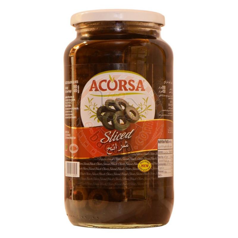Acorsa Sliced Black Olive 950g