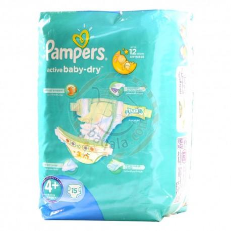 Pampers 4+ 9-16Kg Diaper 15P