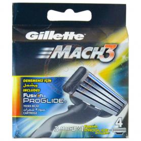 Gillette 4Pcs Mach 3 Blade 1Pcs